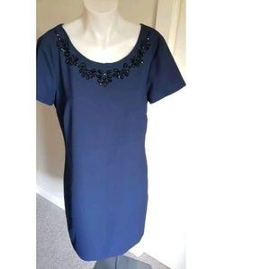 Navy blue short sleeves BANANA REPUBLIC dress 8